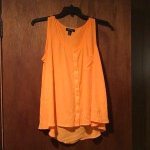 Orange Style & Co. Button Down Blouse Size 2X